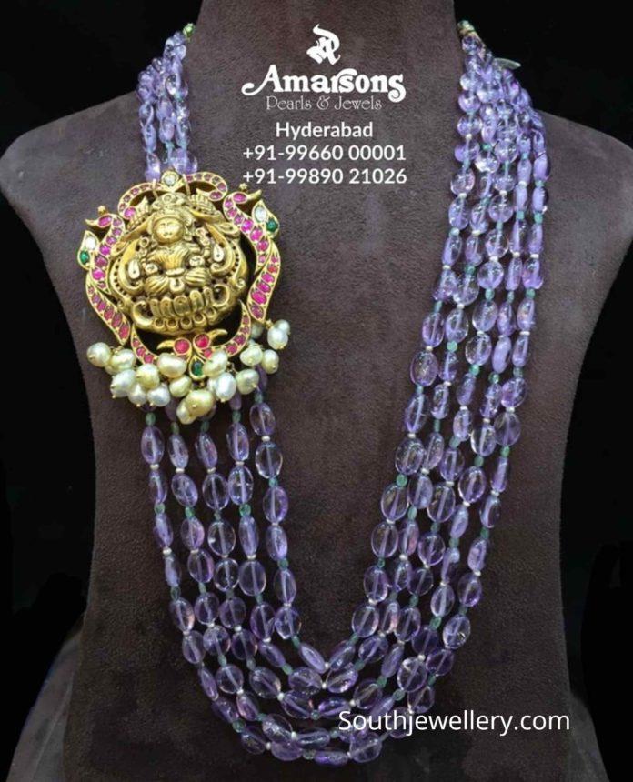 sapphire beads mala