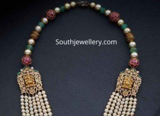 south sea pearl mala with side pendants