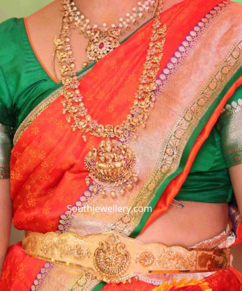tanishq antique gold necklace collection (1)