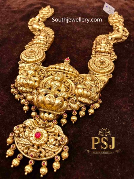 temple jewellery designs 22 k gold