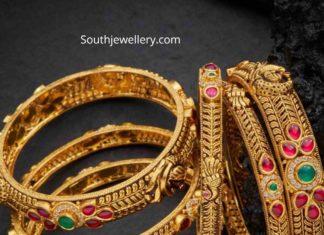 antique gold bangles (2)