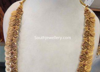 antique gold kasu mala