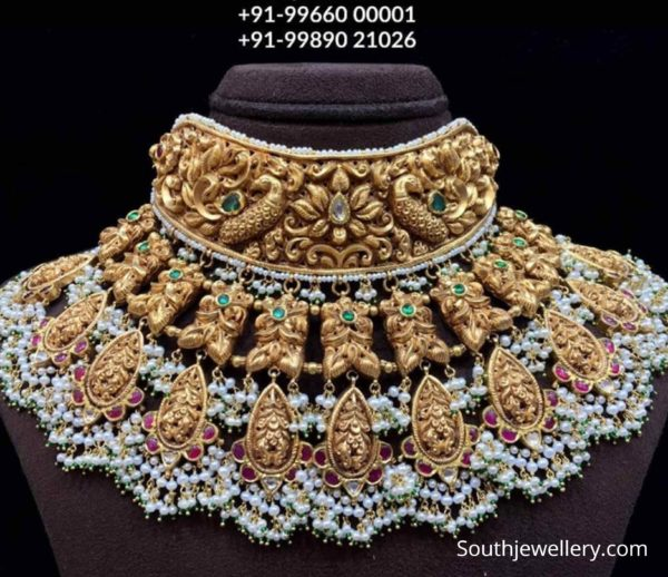 antique gold nakshi choker