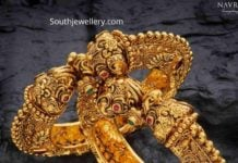 antique gold nakshi kada bangles
