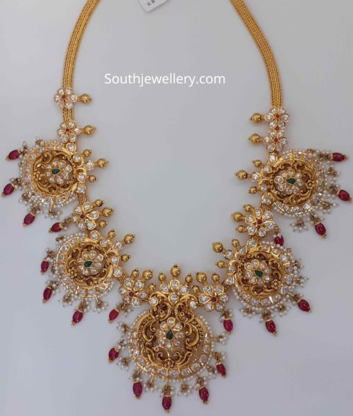 antique gold necklace latest designs