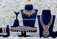 bridal diamond jewellery set by pmj jewels
