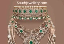 bridal wedding diamond necklace designs