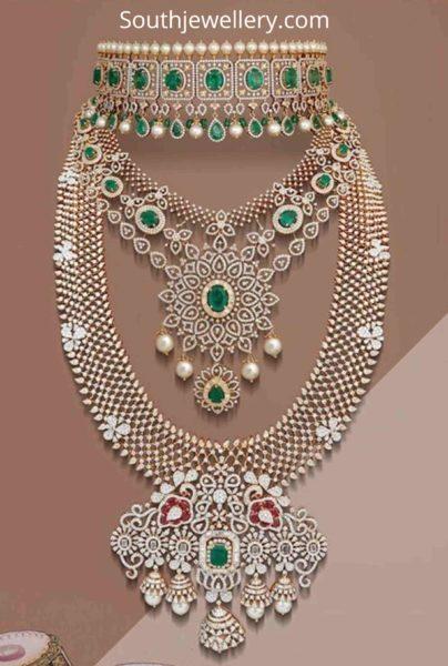 bridal wedding diamond necklace designs