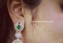diamon emerald jhumkis