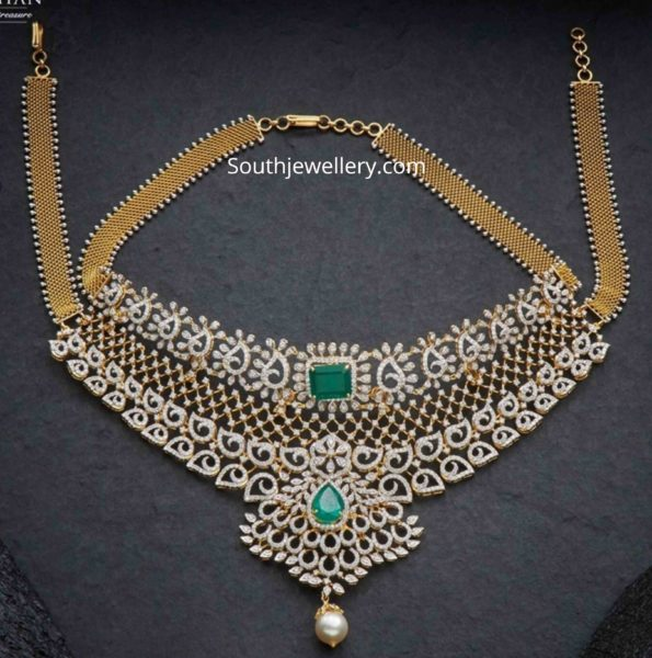 diamond emerald choker (1)