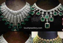 diamond emerald necklace for reception