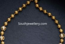 gold balls necklace with lakshmi pendant (1)