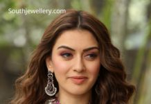 hansika silver necklace set
