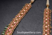 kundan long haram 22 k gold