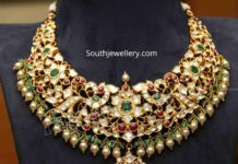 kundan peacock necklace