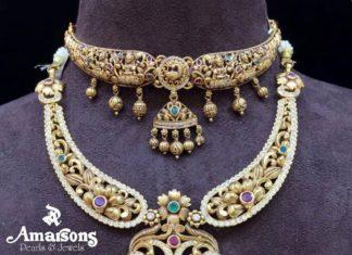 latest 22 carat gold necklace designs (3)