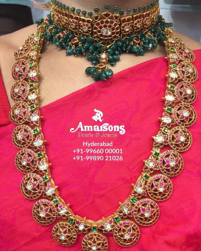latest gold necklace designs 22 k gold (1)
