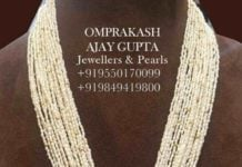 natural pearls mala