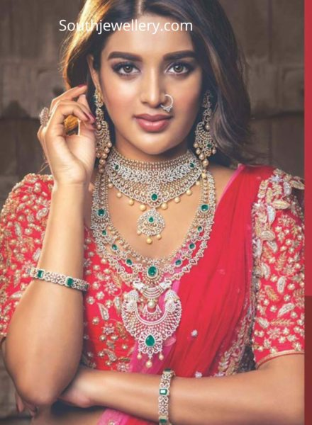 nidhi agerwal in diamond jewellery by manepally (1)