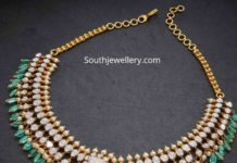 polki diamond and emerald necklace