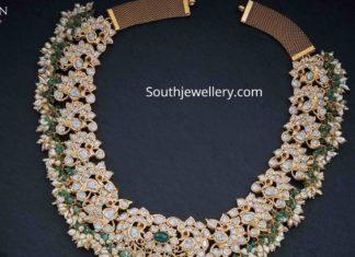polki diamond peacock necklace (1)