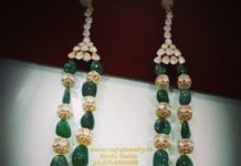 polki emerald long necklace