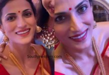 shilpa reddy antique gold haram