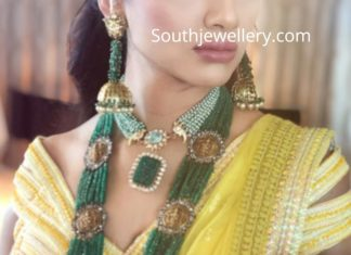 south inidian bride mehendi jewelry