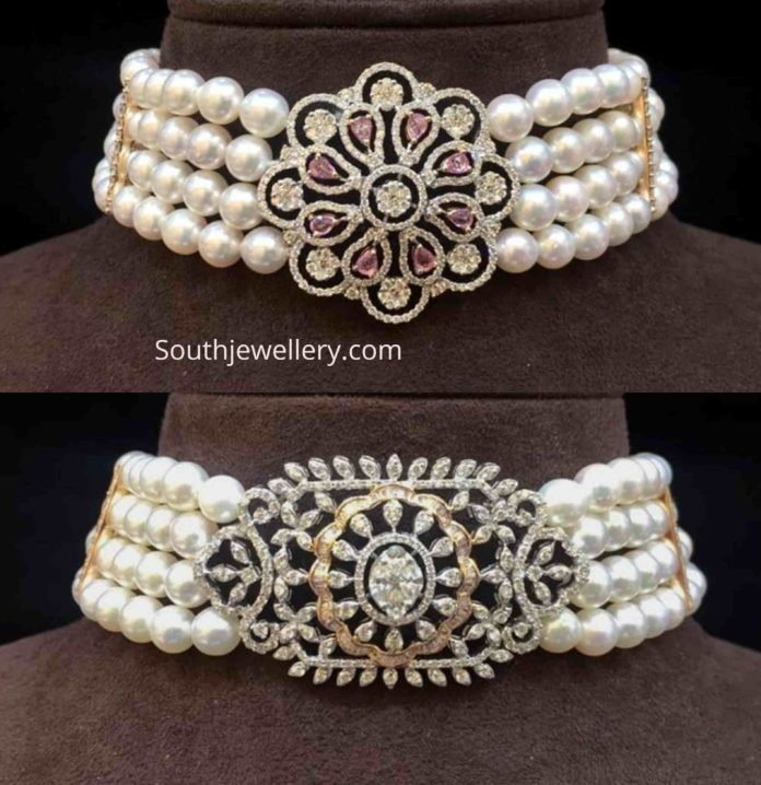 south sea pearl chokers with pendants