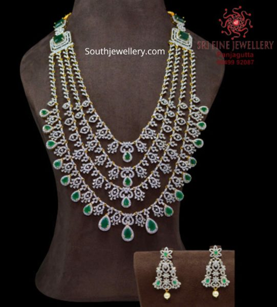 1 gram gold layered cz emerald haram