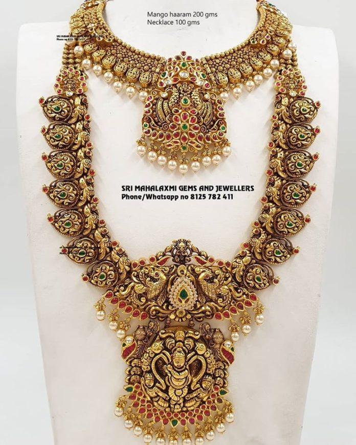 gold nakshi haram designs