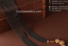 black beads chain designs