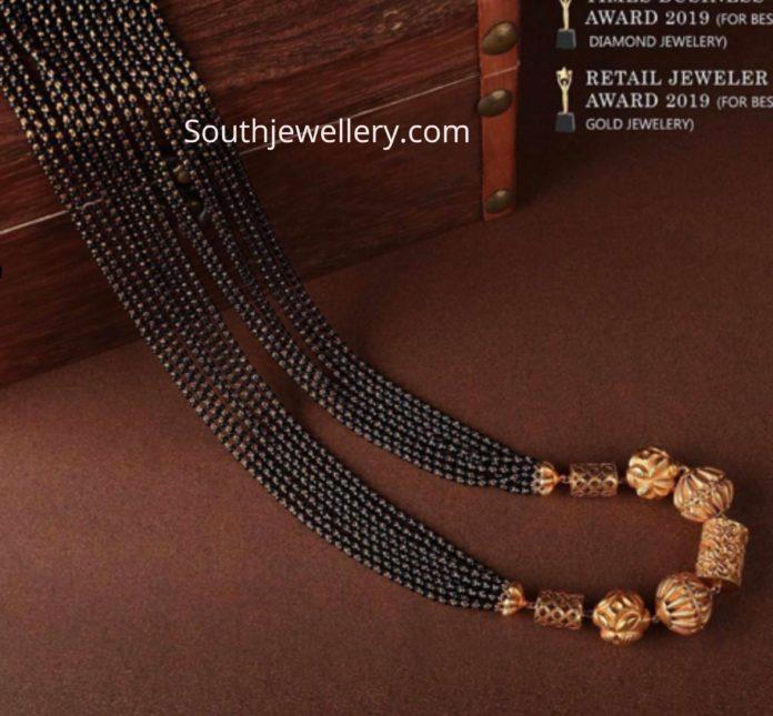 black beads chain designs