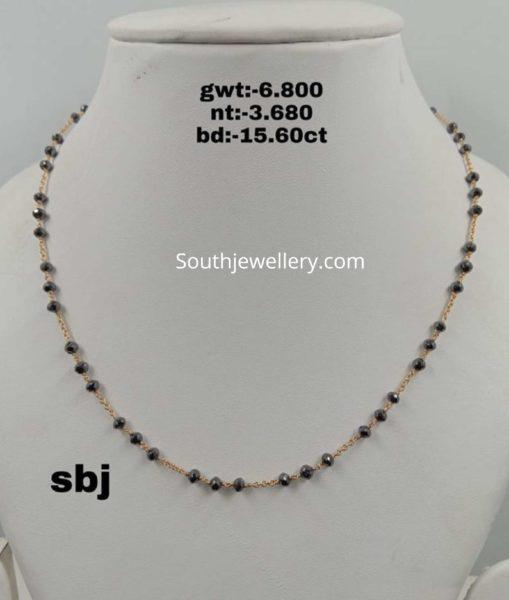 black diamond mangalsutra chain designs (6)