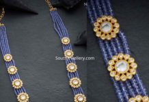 blue sapphire beads long necklace