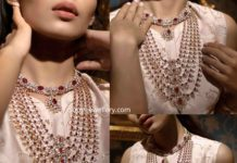 bridal diamond ruby haram set (1)