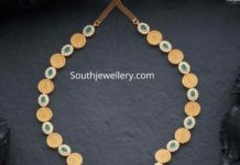 coin necklace with diamond pendant