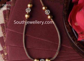 gold chain with diamond lakshmi pendant