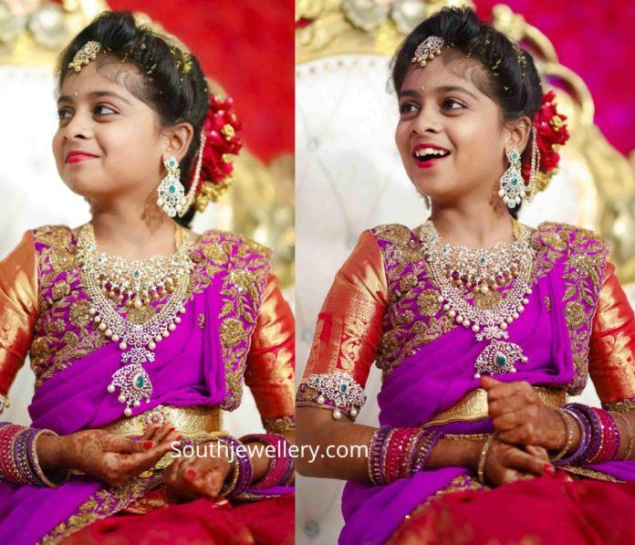 half saree function jewellery (3)