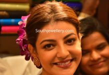 kajal aggarwal kundan necklace and studs