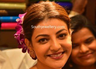 kajal aggarwal kundan necklace and studs