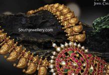 lakshmi mango haram with kundan pendant