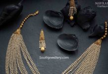 layered small pearls necklace set