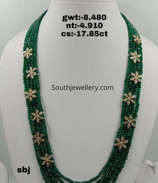 light weight emerald beads necklace (1)