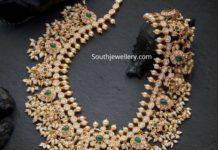 mango guttapusalu haram with lakshmi pendant