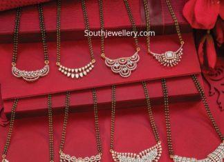 nallapusalu chains with diamond pendants