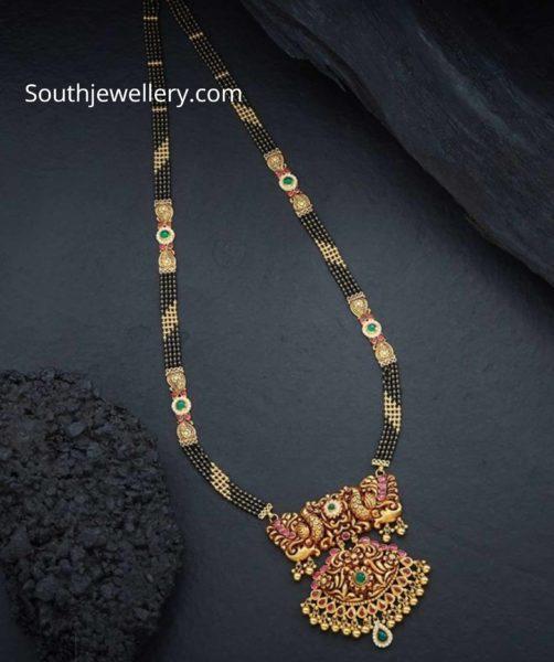 nallapusalu danda with peacock pendant (1)