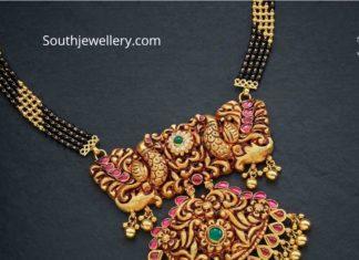 nallapusalu danda with peacock pendant