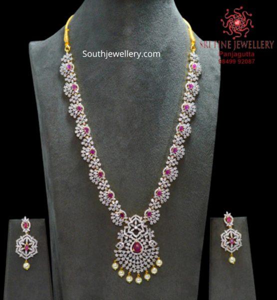 one gram gold american diamond necklace (3)