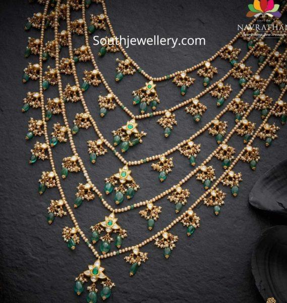 pearl satlada necklace designs